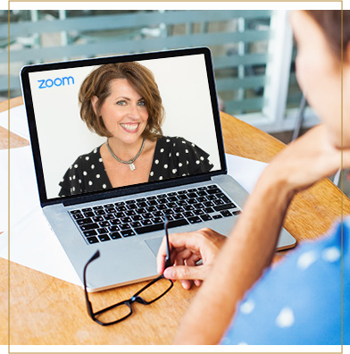 Theresa conducting a group coaching session via Zoom